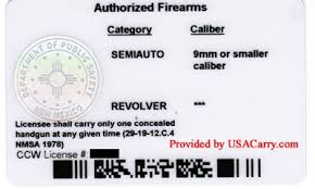 Mexico Permit New Concealed Information Carry