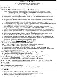 Engineer Resume Sample Tv Reporter Resume Sample Resume Sample