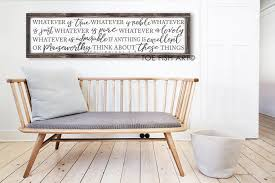 wver is true sign philippians 4 8 scripture verse wall art