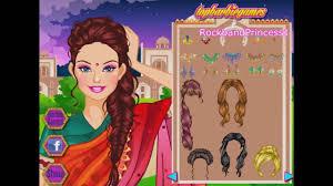 indian barbie dress up games