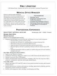 Medical Office Resume Samples Medical Office Manager Resume Medical
