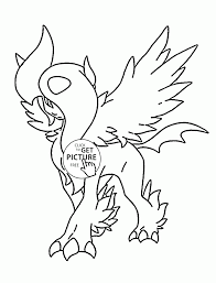 Small Picture Absol Mega Pokemon coloring pages for kids pokemon characters