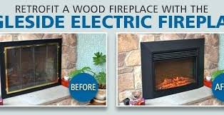 convert wood fireplace to electric pleasurable design ideas convert wood fireplace to electric home decoration insert convert wood fireplace