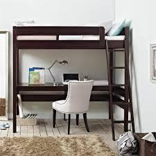 Dorel Living Georgetown Transitional Twin Loft Bed Frame with Desk ...