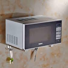 Wall Mounted Kitchen Rack 304 Stainless Steel Wall Mounted Microwave Oven Rack Kitchen Rack
