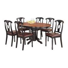 east west furniture 7 pc with a pedestal oval dining table and 6 dining chairs