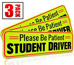 Student Driver Magnet Car Signs For The Novice Or Beginner Better Than A Decal Or Bumper Sticker Reusable Reflective Magnetic Large Bold Visible