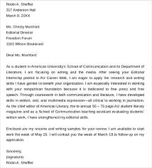 Editorial Assistant Cover Letters Example Cover Letter Editorial Assistant Sample Customer