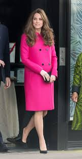 kate middleton hot pink mulberry coat