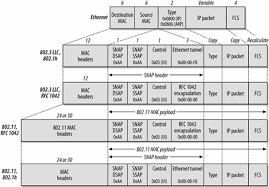 802 11 frame format encapsulation of higher layer protocols within 802 11 11 mac
