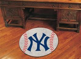 27 round new york yankees baseball mat