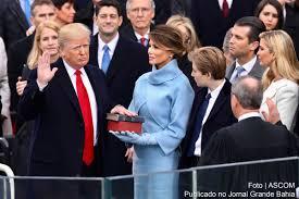 eua donald trump promete uma américa para os americanos em posse de donald john trump como 45º presidente dos estados unidos