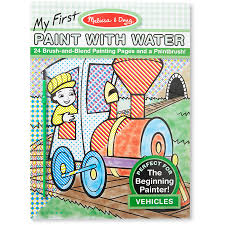 paint with water coloring book. Perfect With Melissa U0026 Doug My First Paint With Water Coloring Book  Vehicles 24  Painting Pages Intended