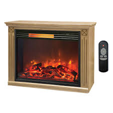 lifesmart big room electric infrared quartz fireplace heater w