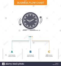 Clock Chart Template Backup Clock Clockwise Counter Time Business Flow Chart