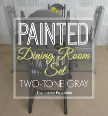 painted dining room set. painted dining room set dry brushed gray