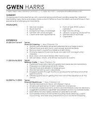 Waiter Sample Resume Waiter Resumes Server Resume Example Media And