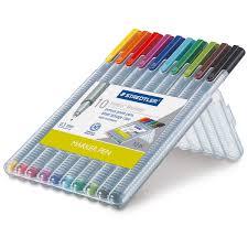 Staedtler Triplus Color Chart Staedtler Triplus Fineliner Pen Sets