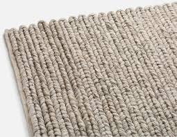 eli hand made wool rug 6 x 9 beige