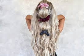 adorable hair scrunchies and styles