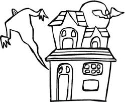 Small Picture Haunted House Free Halloween Coloring Pages Free Hallowen