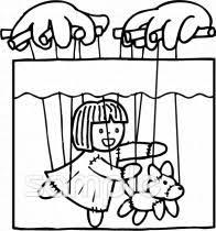 学芸会 あやつり人形イラストならかわいい無料イラストお試し児童