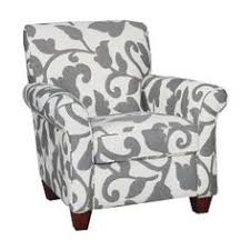gray and white accent chair. Simple Chair 36 Inch Onyx Floral Upholstered Accent Chair And Gray White C