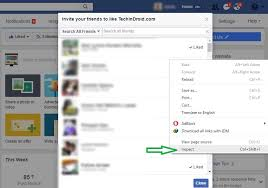 invite all friends to like facebook page script