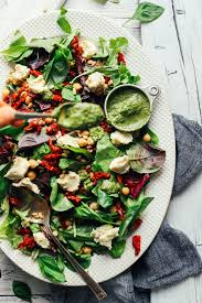 simple mixed green salad. Perfect Simple Using A Spoon To Drizzle Vibrant Pesto Over Salad With Almond Ricotta And  Sundried With Simple Mixed Green Salad T