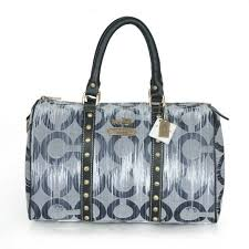 Coach Poppy Stud Medium Grey Luggage Bags ATB