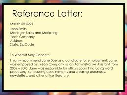 reference letter from employer job recommendation letter sample from employer coles thecolossus co