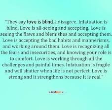 Love Is Blind Quotes Awesome Quotes About Love They Say Love Is Blind I Disagree Infatuation