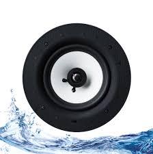 lithe audio bluetooth ip44 bathroom ceiling speaker single master alexa google compatible 01572