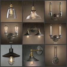 antique looking light fixtures vintage retro edison brass lamp socket e 26 e 27 view intended