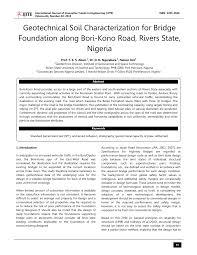 Road Foundation Design Pdf Geotechnical Soil Characterization For Bridge