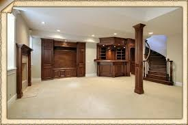 ... Awesome Basement Interior Design Ideas : Basement Remodeling Ideas With  Classic Furniture Style, ...