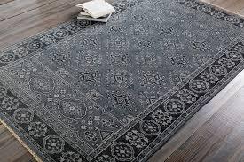 casablanca wool rug styled
