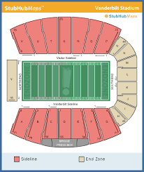 Vanderbilt University Football Stadium Seating Chart Football Stadium Vanderbilt Football Stadium Capacity