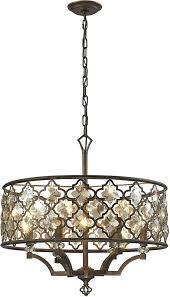 elk 6 weathered bronze pendant lighting loading zoom chandelier diffusion