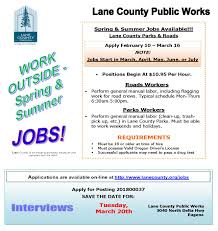 Summer Jobs Lane County