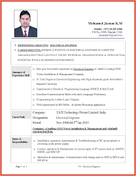 Best Resume Sample For Electrical Engineers New 11 Cv Template For