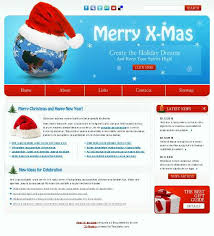 Free Christmas Website Templates Free Christmas Website Template For The Festive Holiday