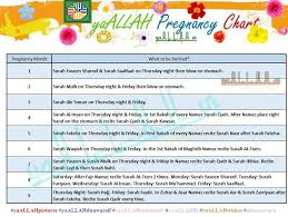 Monthwise Islamic Women Monthly Pregnancy Chart Diet