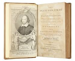 william shakespeare s works first american edition of shakespeares works