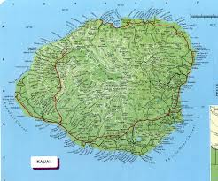 kauai map  kauai hawaii • mappery