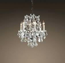 literarywondrous small 3 light antique bronze metal bell shade crystal chandelier