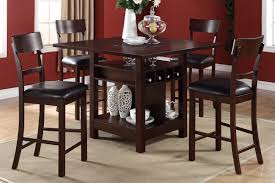 Bar Height Kitchen Table Set Extraordinary Counter High Dining Sets With Storage Dining Table