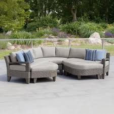 piece grey sectional patio