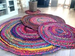 cotton rag rug round multi coloured various sizes rugs ikea uk