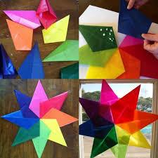 Origami Weihnachten Falten Faltanleitung Bunte Farben